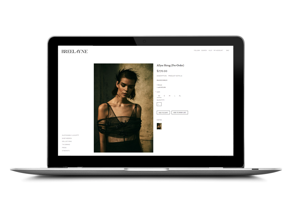 Breelayne Website